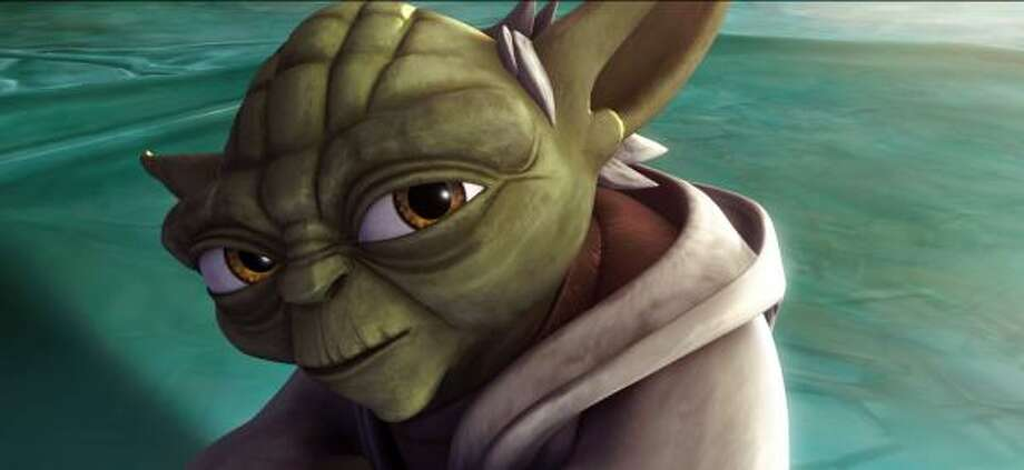Diminutive but mighty Jedi master Yoda (voiced by Tom Kane) considers a difficult proposition in Star Wars: The Clone Wars. Photo: WARNER BROS. PICTURES