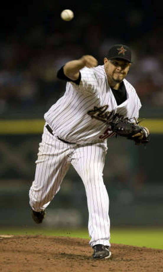 Runelvys Hernandez started four games for the Astros, going 0-3 with a 8.38 ERA. Photo: Brett Coomer, Chronicle
