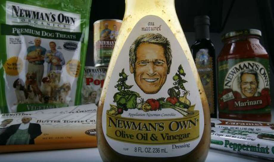 Newman's Own includes about 175 products, including the signature Olive Oil & Vinegar salad dressing. Photo: KAREN WARREN, CHRONICLE