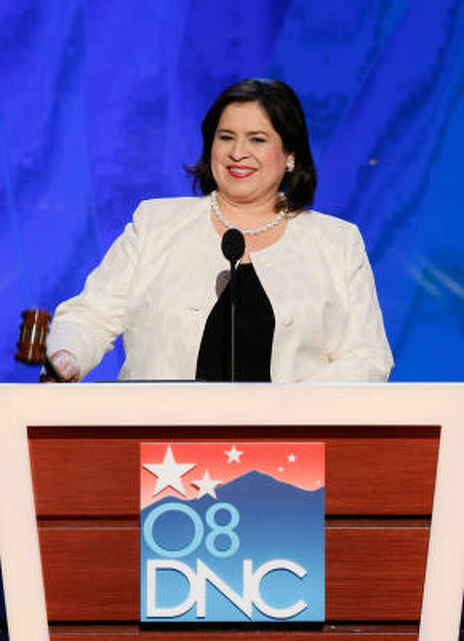 Texas State Sen. Leticia Van de Putte, shown in August at the Democratic National Convention, says the national party's Senatorial Campaign Committee collected money from Texans but failed to support Rick Noriega's campaign for the U.S. Senate. Photo: Getty Images