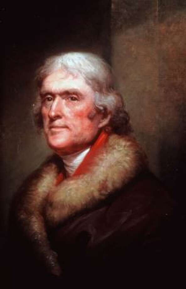Rembrandt Peale painted this portrait of Thomas Jefferson in 1805, about the time Alan Pell Crawford picks up the former president's life in Twilight at Monticello. Photo: NEW ORLEANS MUSEUM OF ART