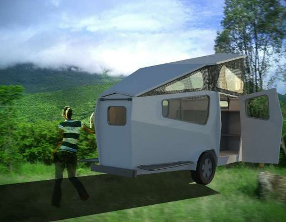 "Garrett Finney is designing the ""Cricket,"" a tiny, light-weight travel trailer. Photo: FARO STUDIO"