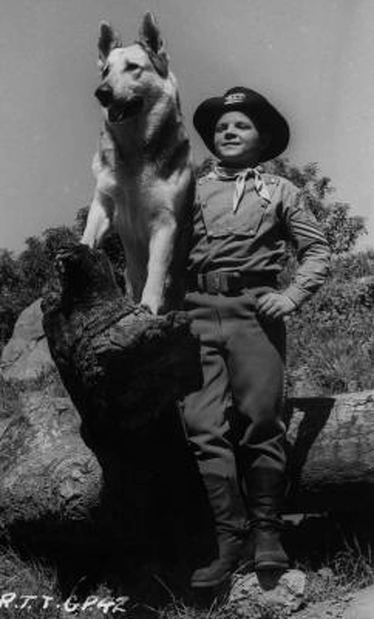 Canine star Rin Tin Tin and actor Lee Aaker starred in The Adventures of Rin Tin Tin on television in the 1950s.