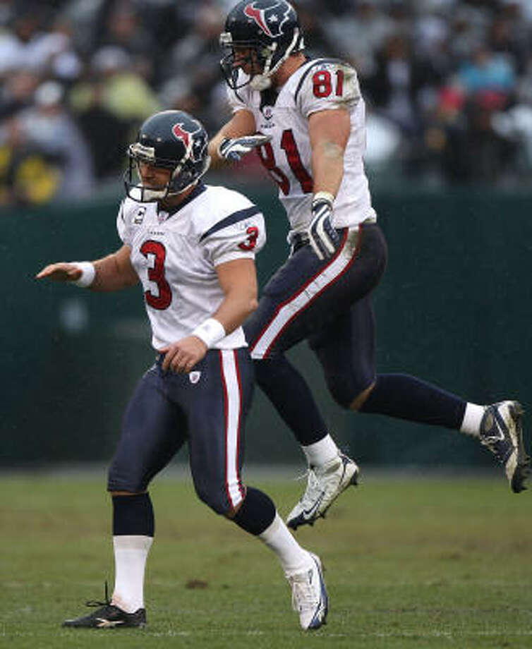 The Texans need a victory on Sunday to avoid a 7-9 finish and their sixth losing record in seven seasons. Photo: Jed Jacobsohn, Getty Images