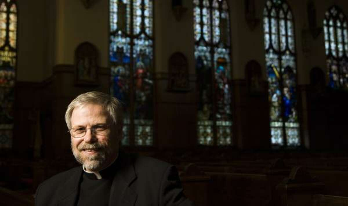 The Rev. R. Troy Gately, pastor of Houston's Co-Cathedral of the Sacred Heart, led fundraising for a Cathedral Center. He is being transferred to St. John Vianney Parish.