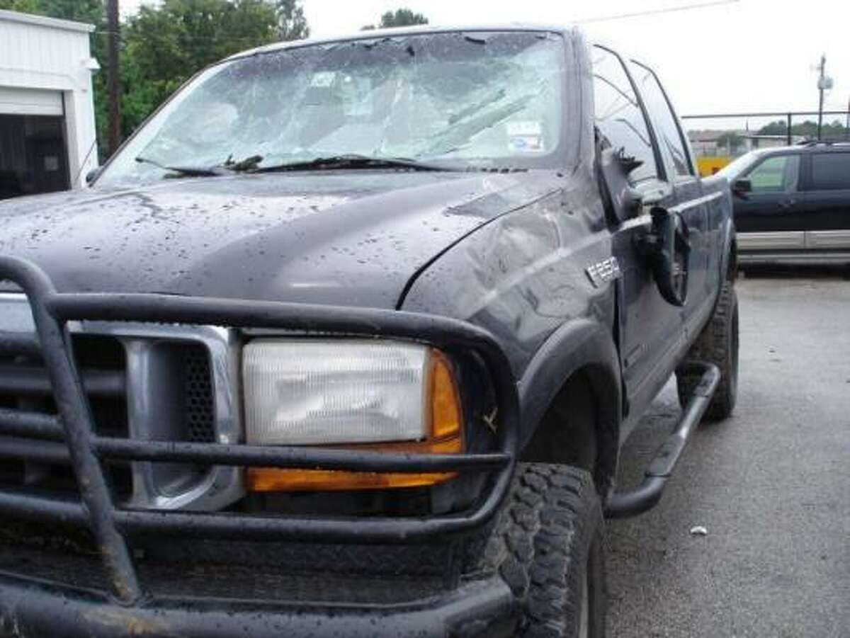 Christmann's damaged Ford F-250 was recovered a day later in Pearsall.