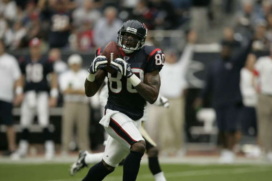 Texans wide receiver Andre Johnson put up amazing numbers in October. Photo: Brett Coomer, Houston Chronicle