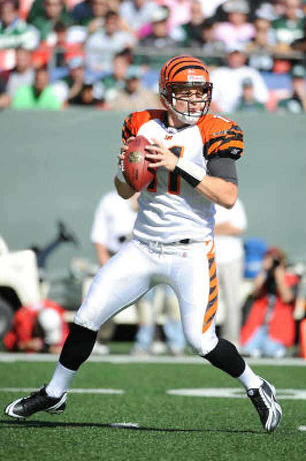 Cincinnati Bengals quarterback Ryan Fitzpatrick has beaten the Texans before. Photo: Al Bello, Getty Images