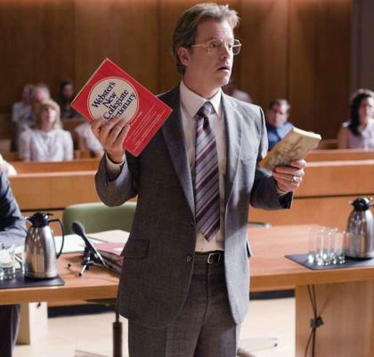 Greg Kinnear, as Bob Kearns, makes his case in court in Flash of Genius.