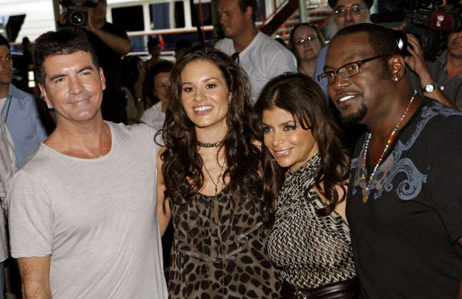 "Judges, from left, Simon Cowell, Kara DioGuardi, Paula Abdul and Randy Jackson of ""American Idol."" Photo: Jason DeCrow, Associated Press"