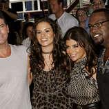 "Judges, from left, Simon Cowell, Kara DioGuardi, Paula Abdul and Randy Jackson of ""American Idol."""