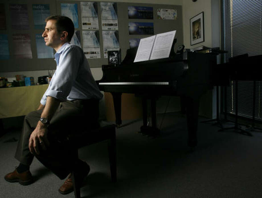 Karim Al-Zand, a composer and Rice University professor, has composed Lamentation on the Disasters of War, which is dedicated to his cousin who was murdered in Baghdad. Photo: Karen Warren, Chronicle