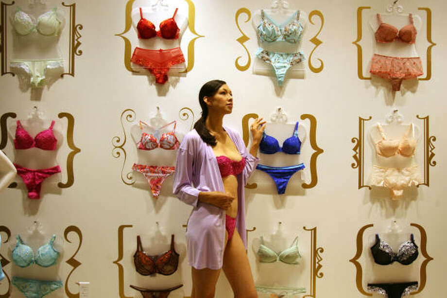 Paige Parkes model Marissa Salazar poses in Intimacy, a new lingerie store in the Houston Galleria founded by Susan Nethero. Photo: Sharon Steinmann, Chronicle