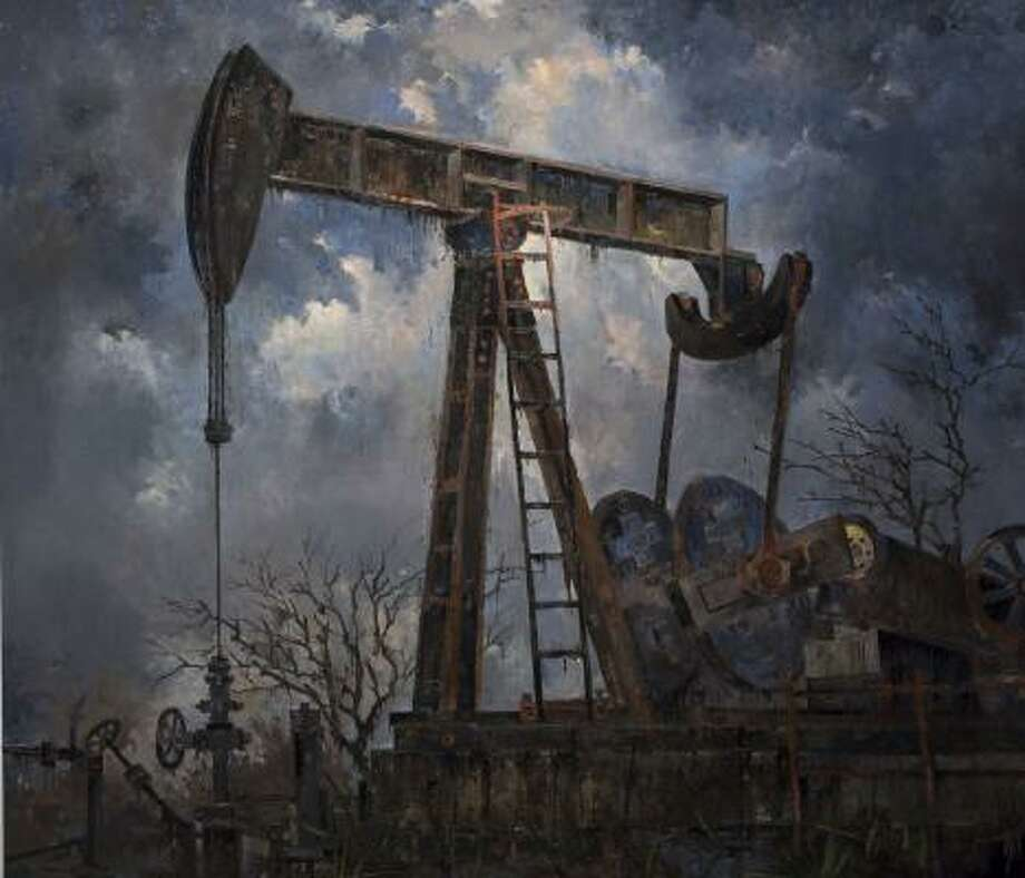 John Alexander's realism is evident in his 2008 painting, Big Oil. Photo: MCCLAIN GALLERY