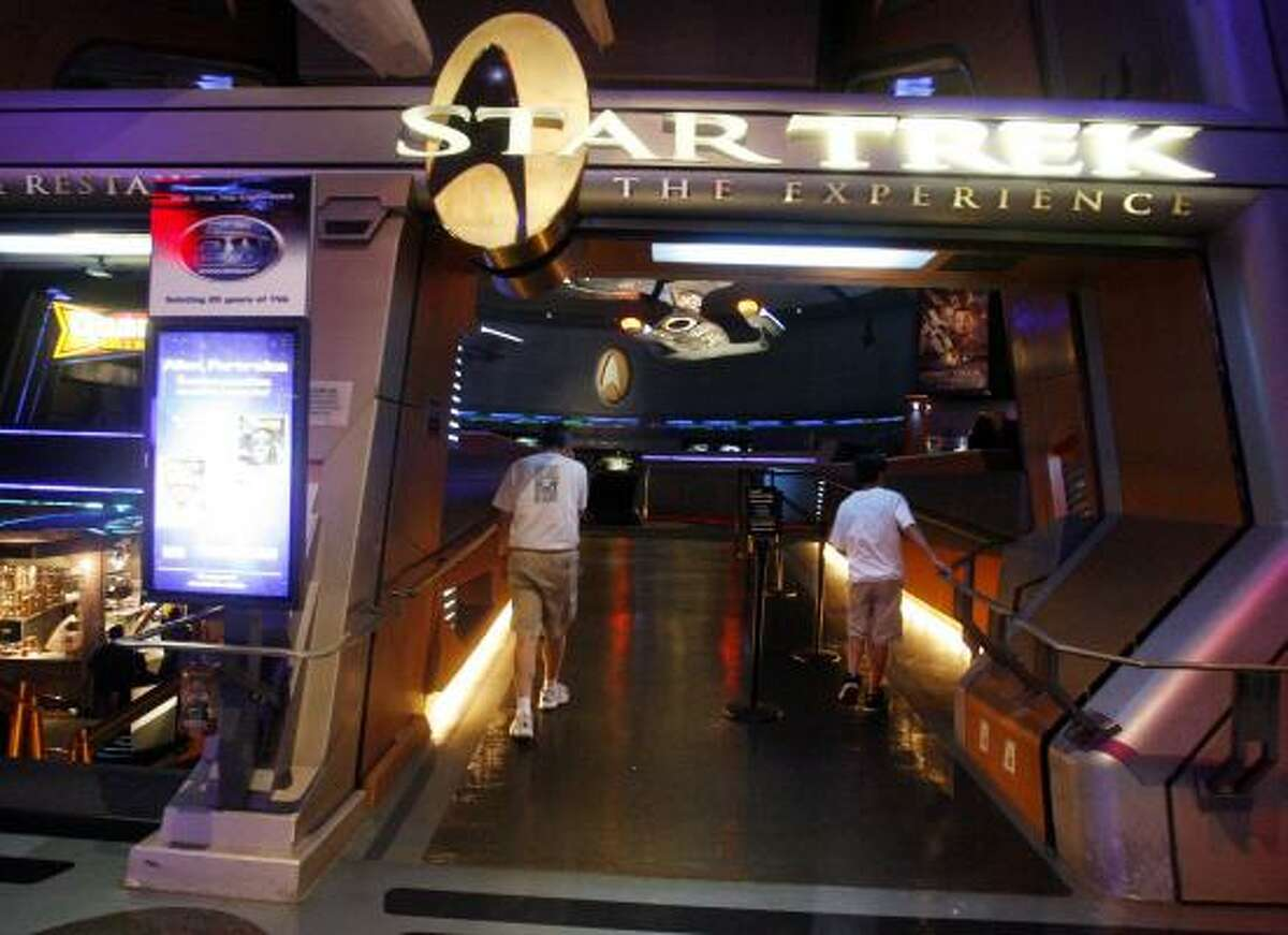 Fans navigate Star Trek: The Experience at the Las Vegas Hilton. The attraction closes on Monday after a 10-year run.