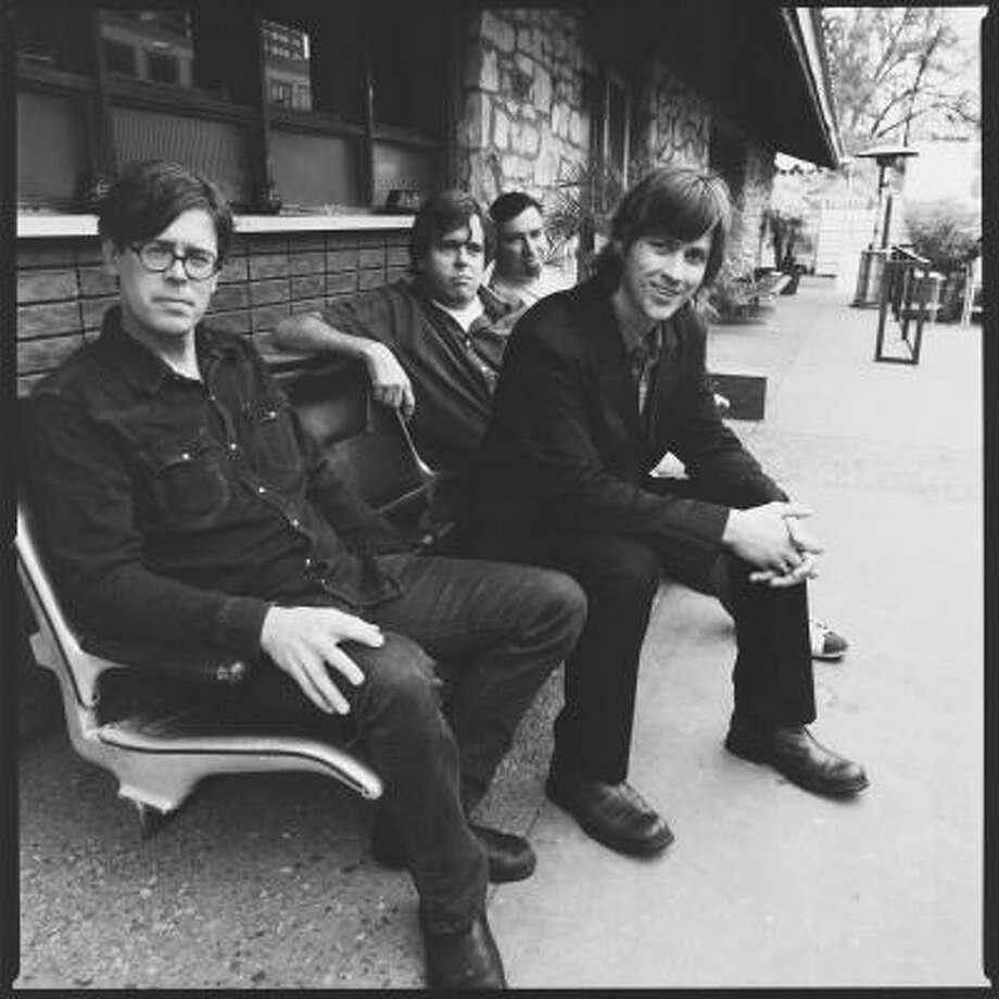 The Old 97's' Murry Hammond, from left, Rhett Miller, Philip Peeples and Ken Bethea took a break after the band's 2004 album, Drag It Up. Familial obligations were part of it, the other was patching up a band frayed by creative differences and hurt feelings and anxieties after Miller started a solo career on the same major label that ditched the 97's after Satellite. Photo: Lisa Johnson, New West Records