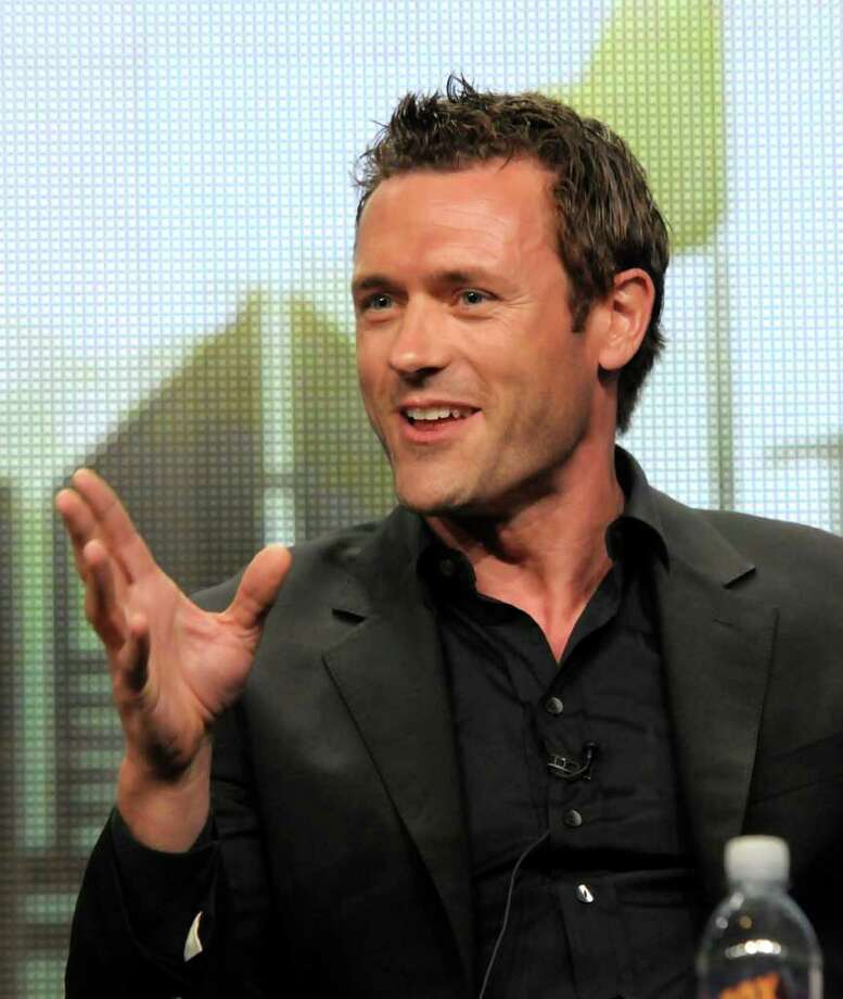 "Actor Jason O'Mara speaks during a panel at the The Television Critics Association 2011 Summer Press Tour in Beverly Hills, Calif. on Friday, Aug. 5, 2011. O'Mara stars in the television series ""Terra Nova"" on FOX. Photo: AP"