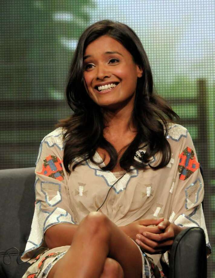 "Actress Shelley Conn speaks during a panel at the The Television Critics Association 2011 Summer Press Tour in Beverly Hills, Calif. on Friday, Aug. 5, 2011. Conn stars in the television series ""Terra Nova"" on FOX. Photo: AP"