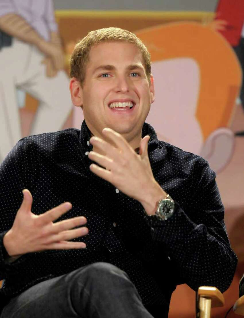 Actor Jonah Hill speaks during a panel at the The Television Critics Association 2011 Summer Press Tour in Beverly Hills, Calif. on Friday, Aug. 5, 2011. Hill the creator of and a voice actor in the new animated television series