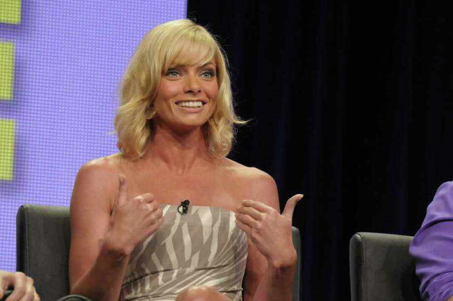 "Actress Jaime Pressly speaks during a panel at the The Television Critics Association 2011 Summer Press Tour in Beverly Hills, Calif. on Friday, Aug. 5, 2011. Pressly stars in the television series ""I Hate My Teenage Daughter"" on FOX. Photo: AP"