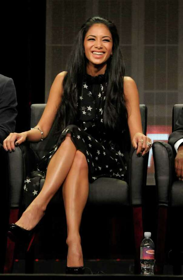 "Singer Nicole Scherzinger speaks during a panel at the The Television Critics Association 2011 Summer Press Tour in Beverly Hills, Calif. on Friday, Aug. 5, 2011. Scherzinger is a judge in the television reality show ""The X Factor"" on FOX. Photo: AP"