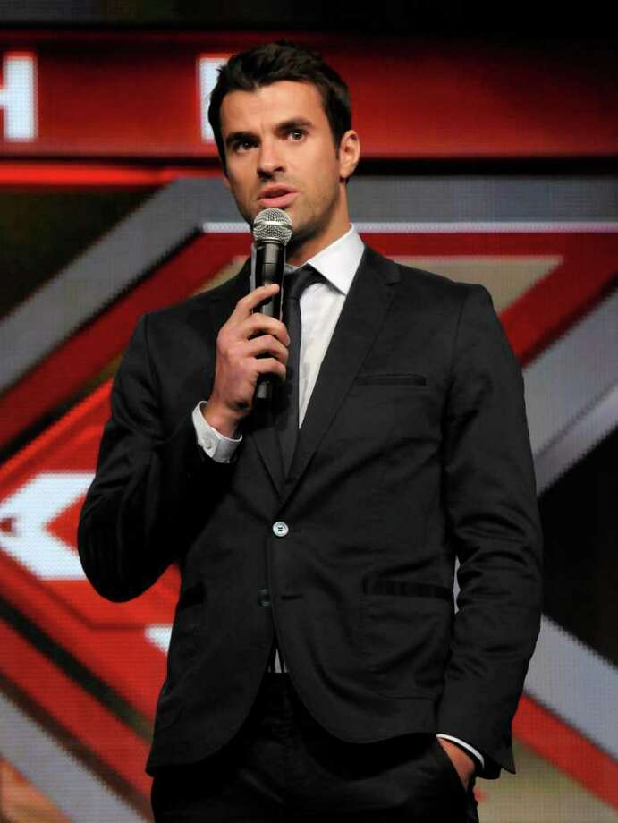 """Show host Steve Jones speaks during a panel at the The Television Critics Association 2011 Summer Press Tour in Beverly Hills, Calif. on Friday, Aug. 5, 2011. Jones hosts  in the television reality show """"The X Factor"""" on FOX. Photo: AP"""