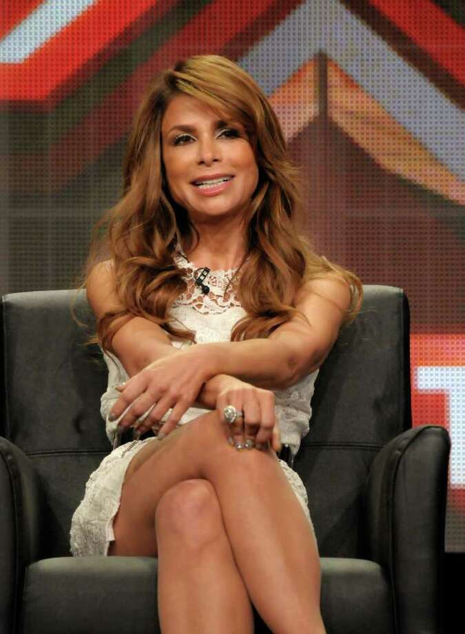 "Television personality Paula Abdul speaks during a panel at the The Television Critics Association 2011 Summer Press Tour in Beverly Hills, Calif. on Friday, Aug. 5, 2011. Abdul is a judge in the television reality show ""The X Factor"" on FOX. Photo: AP"