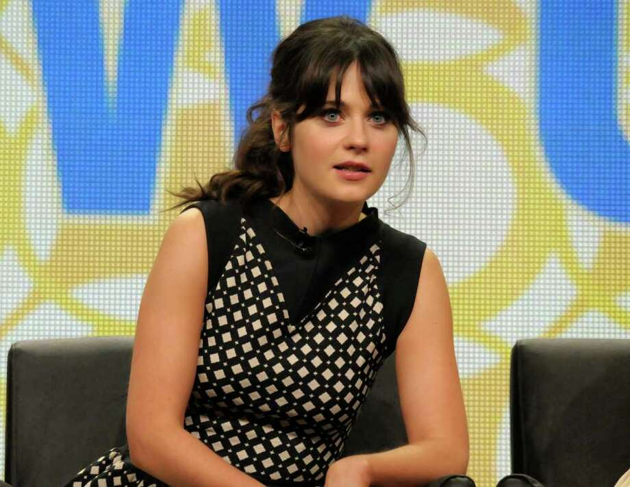 """Actress Zooey Deschanel speaks during a panel at the Television Critics Association 2011 Summer Press Tour, Friday, Aug. 5, 2011 in Beverly Hills, Calif. Deschanel stars in the television series """"New Girl"""" on CBS. Photo: AP"""