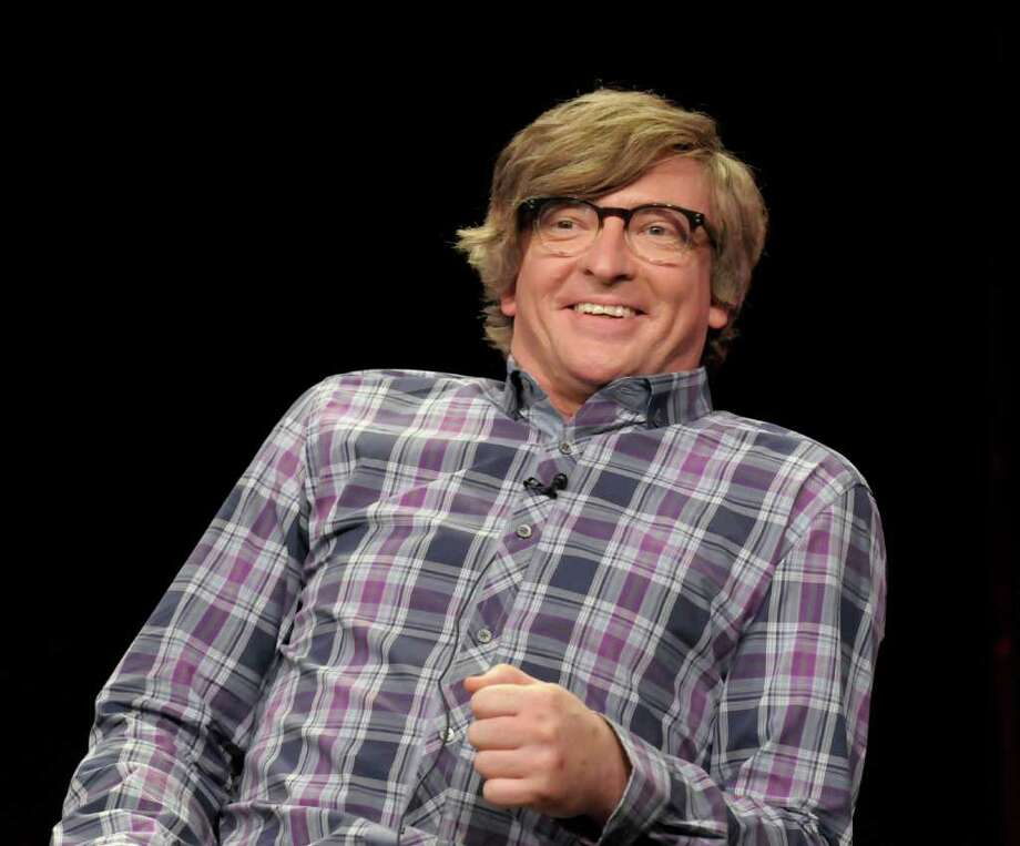 "Actor Rhys Darby speaks during a panel at the The Television Critics Association 2011 Summer Press Tour in Beverly Hills, Calif. on Wednesday, Aug. 3, 2011. Darby stars in the television series ""How to Be a Gentleman"" on CBS. Photo: AP"