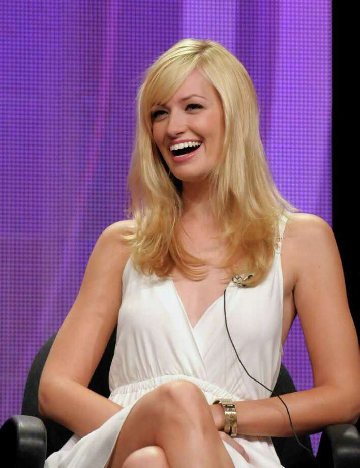 "Actress Beth Behrs speak during a panel at the The Television Critics Association 2011 Summer Press Tour in Beverly Hills, Calif. on Wednesday, Aug. 3, 2011. Behrs star in the television series ""2 Broke Girls"" on CBS. Photo: AP"