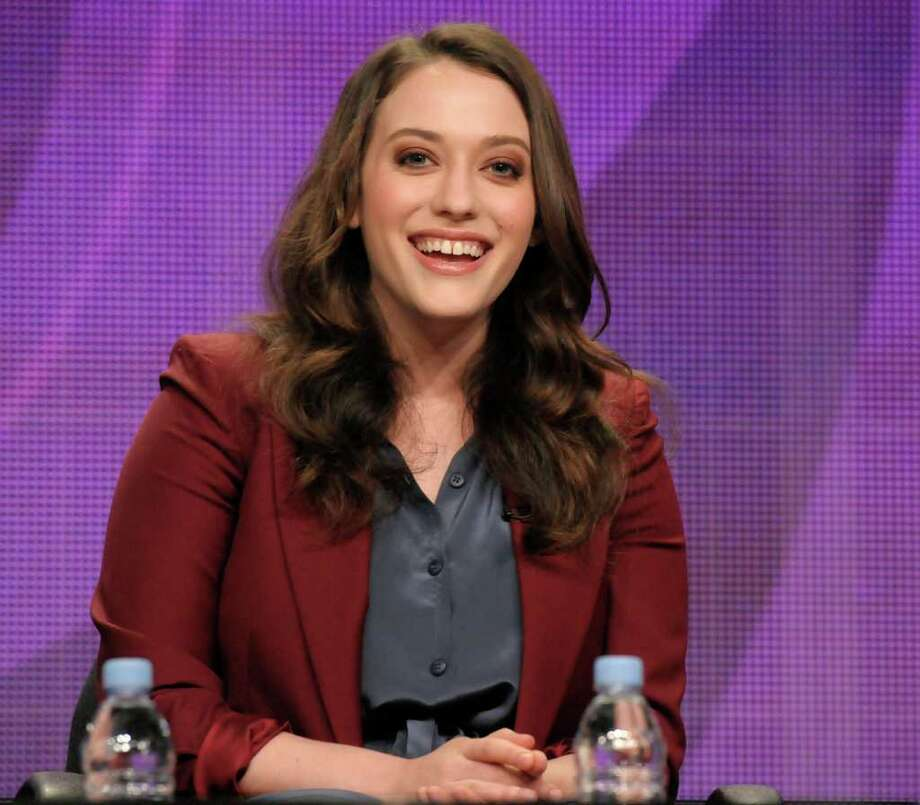 "Actress Kat Dennings speak during a panel at the The Television Critics Association 2011 Summer Press Tour in Beverly Hills, Calif. on Wednesday, Aug. 3, 2011. Dennings star in the television series ""2 Broke Girls"" on CBS. Photo: AP"