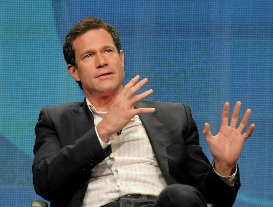 "Actor Dylan Walsh speaks during a panel at the The Television Critics Association 2011 Summer Press Tour in Beverly Hills, Calif. on Wednesday, Aug. 3, 2011. Walsh stars in the television series ""Unforgettable"" on CBS. Photo: AP"