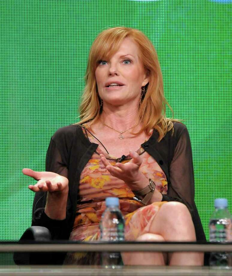 "Actress Marg Helgenberger speaks during a panel at the The Television Critics Association 2011 Summer Press Tour in Beverly Hills, Calif. on Wednesday, Aug. 3, 2011. Helgenberger stars in the television series ""CSI: Crime Scene Investigation"" on CBS. Photo: AP"
