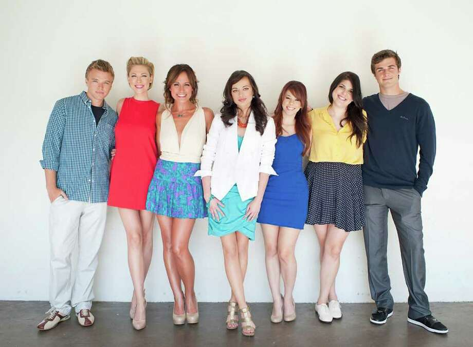 "From left to right, actor Brett Davern, actress Desi Lydic, actress Nikki Deloach, actress Ashley Rickards, actress Jillian Rose Reed, actress Molly Tarlov, and actor Beau Mirchoff pose for a portrait during The Television Critics Association 2011 Summer Press Tour in Beverly Hills, Calif. on Friday, July 29, 2011. Davern, Lydic, Deloach, Rickards, Reed, Tarlov, and Mirchoff star in the television series ""Awkward"" on MTV. Photo: AP"