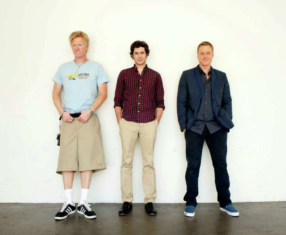 "From left to right, actor Jake Busey, left, actor Adam Brody, center, and actor Alan Tudyk pose for a portrait during The Television Critics Association 2011 Summer Press Tour in Beverly Hills, Calif. on Friday, July 29, 2011. Busey, Brody, and Tudyk voice characters on the new animated television series ""Good Vibes"" on MTV. Photo: AP"