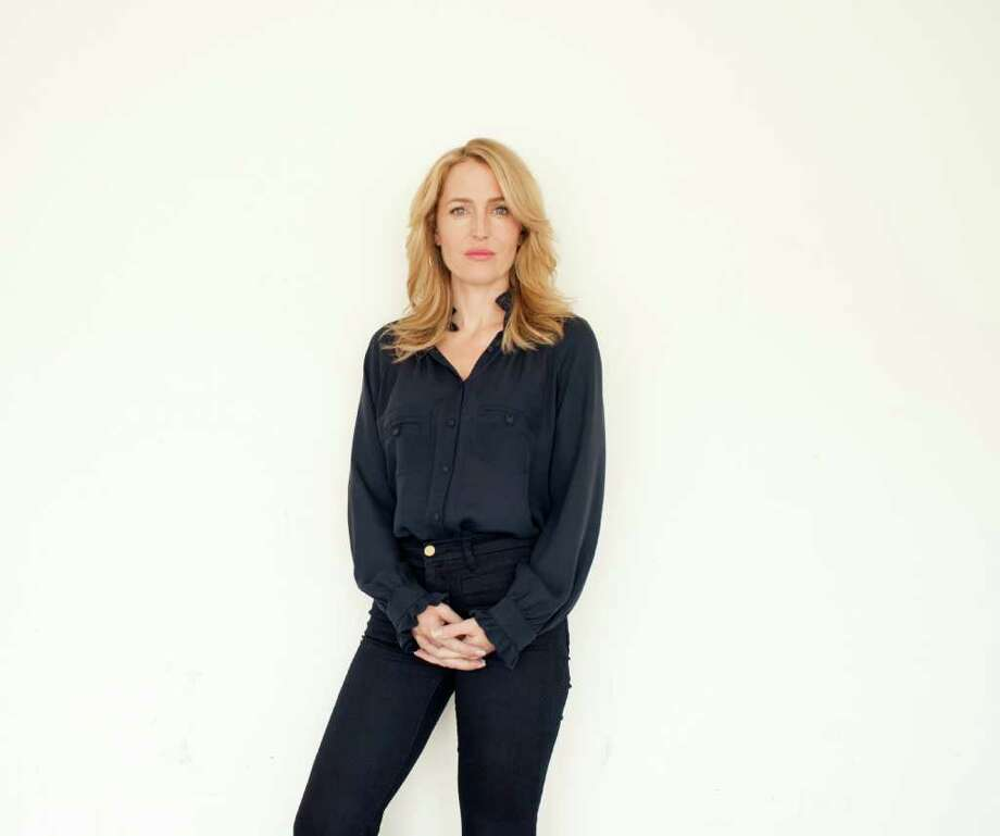 """Actress Gillian Anderson poses for a portrait during The Television Critics Association 2011 Summer Press Tour in Beverly Hills, Calif. on Friday, July 29, 2011. Anderson is starring in the upcoming two-part series """"Moby Dick"""" on Encore. Photo: AP"""