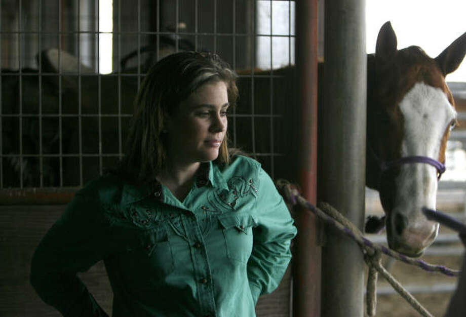 Brittany Pozzi-Pharr is a world champion barrel racer from Victoria. Photo: Karen Warren, Chronicle