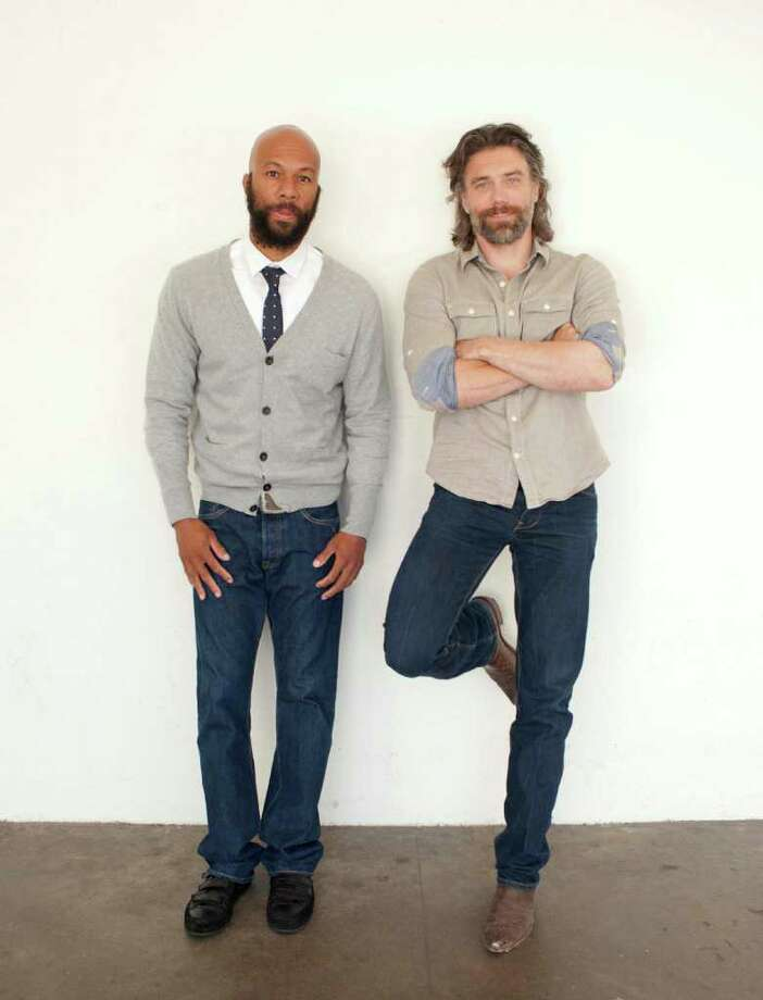 "Actor Anson Mount, right, and actor Common pose for a portrait during The Television Critics Association 2011 Summer Press Tour in Beverly Hills, Calif. on Thursday, July 28, 2011. Mount and Common are appearing in the upcoming television series ""Hell on Wheels"" on AMC. Photo: AP"