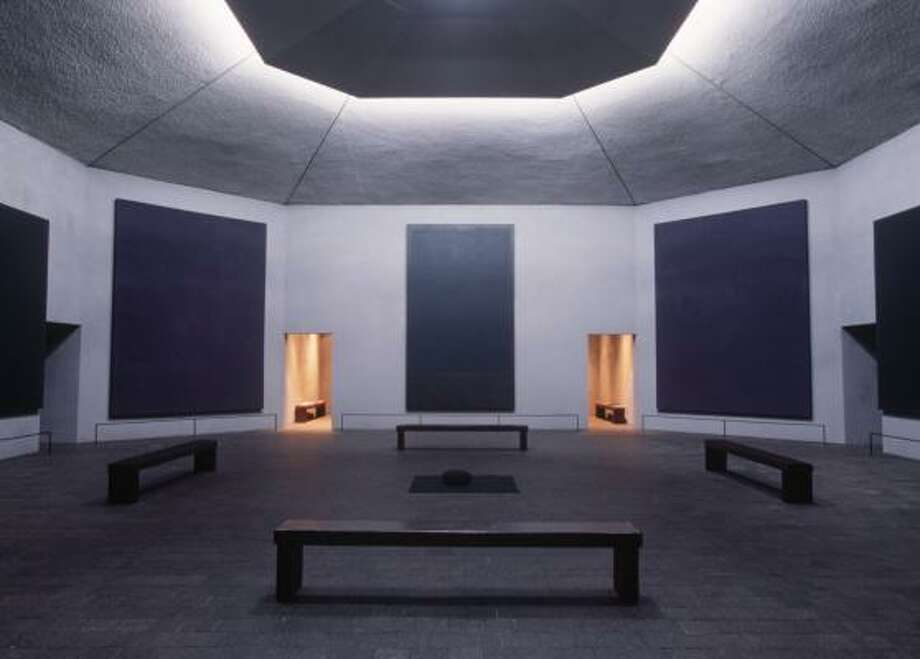 The Rothko Chapel houses 14 canvases painted by the renowned abstract expressionist Mark Rothko. Photo: SMILEY N. POOL, CHRONICLE