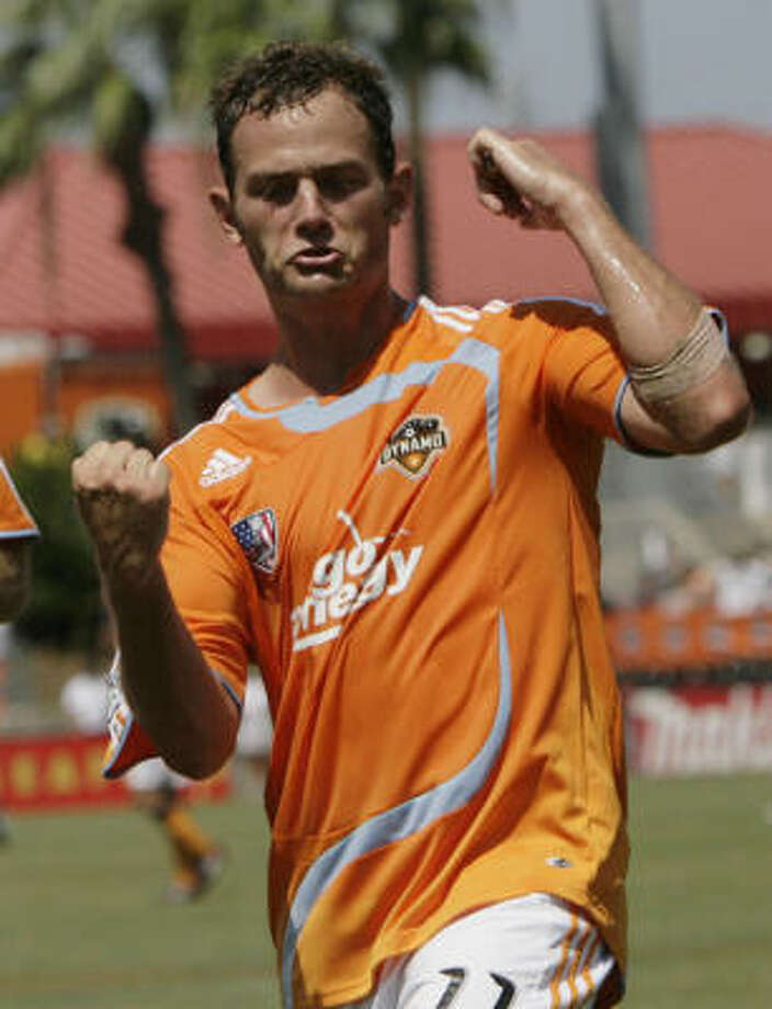 Brad Davis and the Dynamo knows that fighting for the 4-4 tie against UNAM Pumas in a wild CONCACAF Champions League group-stage match Tuesday night has to be regarded as a noteworthy achievement. Photo: Julio Cortez, Houston Chronicle