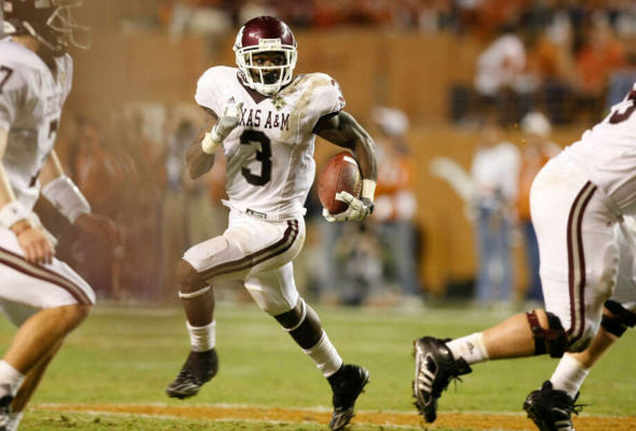 Texas A&M running back Mike Goodson is not expected to return for his senior season. Photo: Nick De La Torre, CHRONICLE