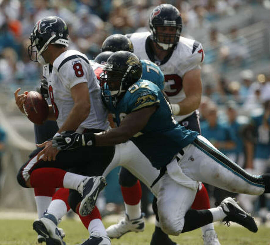 Matt Schaub might get another chance to face the Jaguars this season. Photo: Karen Warren, Chronicle