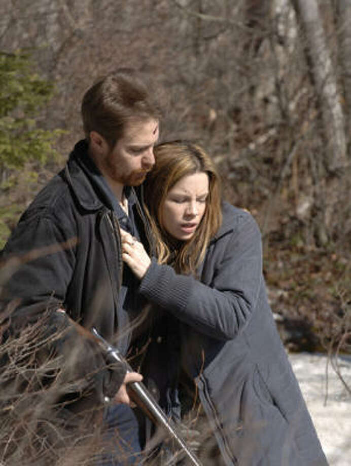 Sam Rockwell as Glenn Marchand and Kate Beckinsale as Annie Marchand in Snow Angels. Photo: Warner Independent