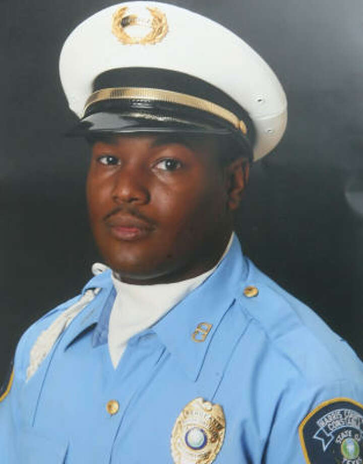 Precinct 6 Reserve Deputy Constable Carltrell Lewayne Odom was so eager to become a law enforcement officer that he earned his law enforcement license at age 20, a year before he could legally carry a handgun or serve as a peace officer. Photo: Bill Olive, For The Chronicle