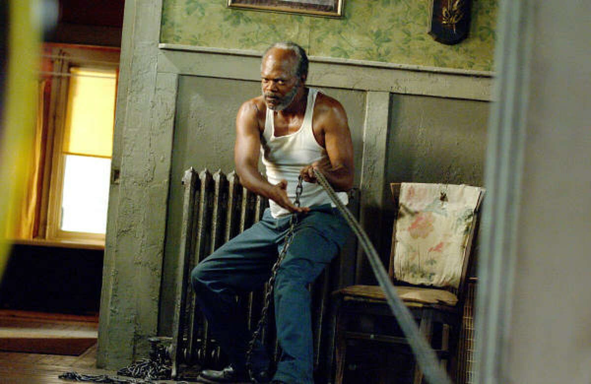 Samuel L. Jackson plays a man rehabilitating a woman he rescued, in Black Snake Moan.
