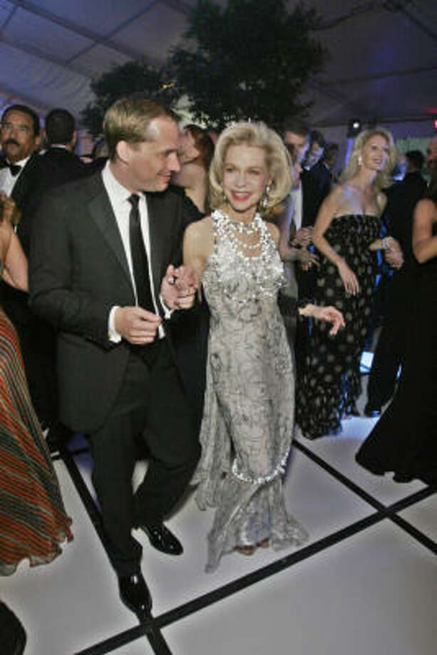 Lynn Wyatt took a spin on the dance floor at the Alley gala in May with Paul Johnson. Photo: RICHARD CARSON, For The Chronicle