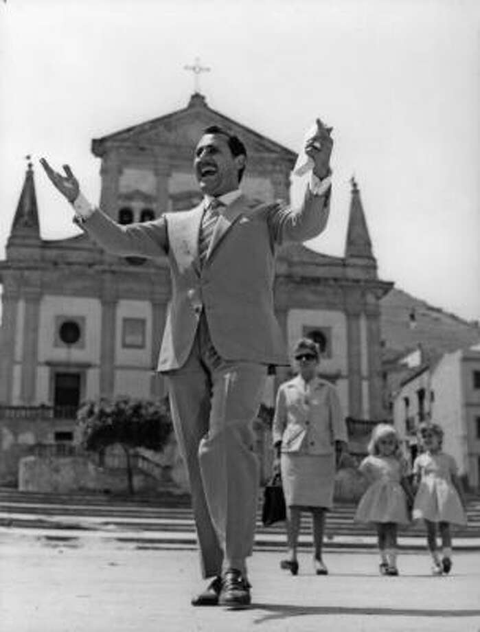 In Mafioso, Antonio Badalmenti (Alberto Sordi) happily returns to his Sicilian village with his Milanese wife and young children. Photo: Rialto Pictures