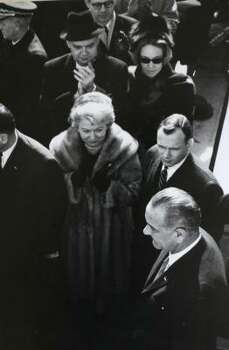 Carpenter, center, at the presidential swearing-in of Lyndon B. Johnson. Photo: COURTESY PHOTO