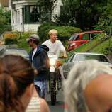 """Actor Ryan Gosling on the set of  """"The Place Beyond The Pines""""  on Watt Street  in Schenectady, NY, onTuesday, Aug. 9, 2011.( Michael P. Farrell/Times Union)"""