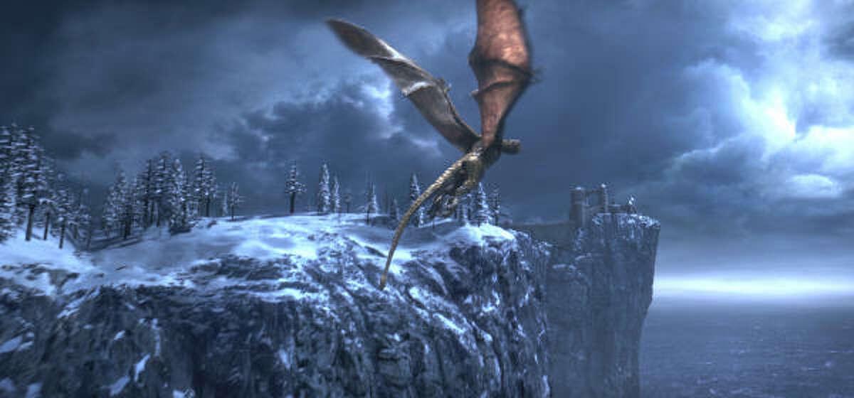 A fierce dragon terrorizes Beowulf's kingdom in Beowulf.